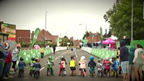 Kids in Tour of Britain balance bike race