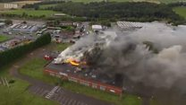 Gas warning after Fife fire