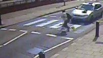 Man run over at crossing 'went in the air'