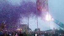 'World record' cannon opens festival