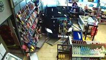 بالفيديو: متقاعد يلحق دمارا في محطة وقود