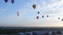 Balloons ascend for mayor's appeal