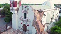 طائرة بدون طيار تكشف حجم الدمار الذي الحقه زلزال المكسيك