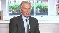 Tony Blair 'obsessed' about a British football league