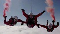 Veteran paratrooper skydives again