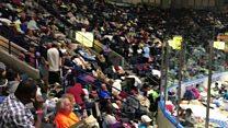 Florida arena shelters thousands