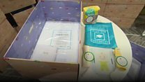 Baby boxes given to parents in Leeds