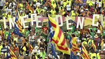 Catalan independence rally in Barcelona