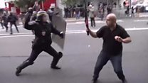 Protesters clash with police in France