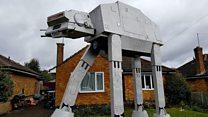 بريطاني يبني نموذجا ضخما لمركبة قتالية
