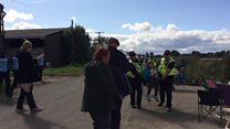 Police move protesters at fracking site