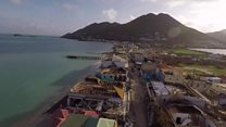 Drone footage of Saint-Martin devastation