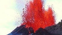 Lava pours out Hawaii's Kilauea Volcano