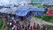 Havadan görüntülerle: Arakanlıların kaldığı kamplar
