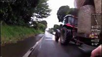 Tractor knocks boy, 13, off bike