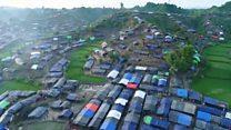Imágenes captada por un dron dan cuenta de las dimensiones del campo de refugiados rohingyas en Bangladesh