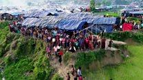 صور لمخيمات مكتظة للروهينجا بكاميرا طائرة بدون طيار