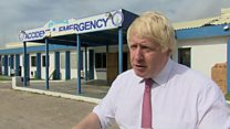 Johnson pledges support after Irma