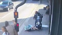 Elderly woman hit by mobility scooter