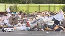Pile of waste dumped at Olympic Park