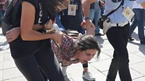 Chaotic scenes outside Turkey trial