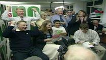 Parti 'Na' yn dathlu canlyniad Caerdydd