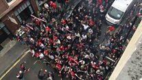 FC Cologne fans flood London