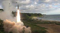 S Korea drill response to N Korea missile