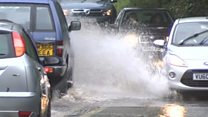 Flash flood 'like a river in street'