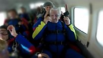 A 95-year-old former paratrooper takes to the skies again