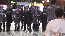 'Unlawful assembly' warning to US protesters
