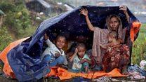Monsoon rains hit Rohingya camps