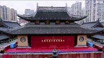 في الصين نقل معبد يبلغ وزنه ألفي طن لمسافة 30 متراً