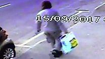 Tube attack: CCTV shows Lidl bag man