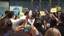 Pelosi heckled by Daca demonstrators