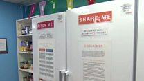 Community fridge tackling food waste