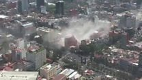 Phone footage shows Mexico quake damage