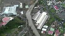 Aerial footage shows devastation in Dominica