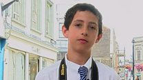Schoolboy photographer exhibits work