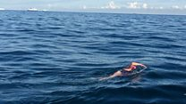 Channel swim in memory of sister