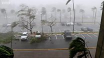 Las primeras imágenes del huracán María a su paso por Puerto Rico