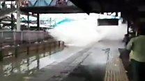 Mumbai train gets water ride