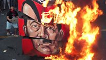 Philippines protesters burn Duterte effigy