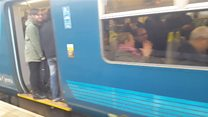 Rail commuters 'packed in like cattle'