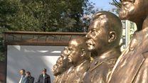 В центре Москвы установили бюст Сталину
