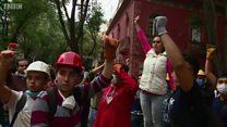 لماذا يرفع المكسيكون أيديهم بهذا الشكل بعد الزلزال؟