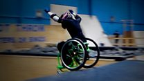 Girl, 13, does backflip in her wheelchair