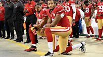 US sports stars bend knee give Trump