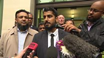 Cage director Muhammad Rabbani reacts to his conviction