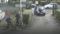 CCTV shows 'school run rage' incident